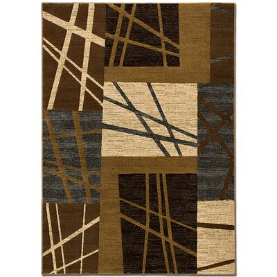 Lines Chocolate Area Rug Rug Size: 79 x 105