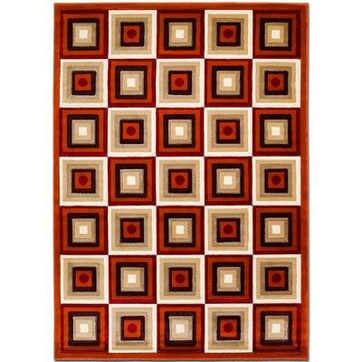 Rust Area Rug Rug Size: 79 x 105