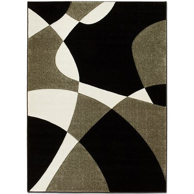 Black/Gray Area Rug Rug Size: Rectangle 52 x 72