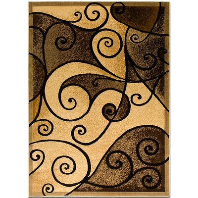 Brown/Beige Area Rug Rug Size: 52 x 72