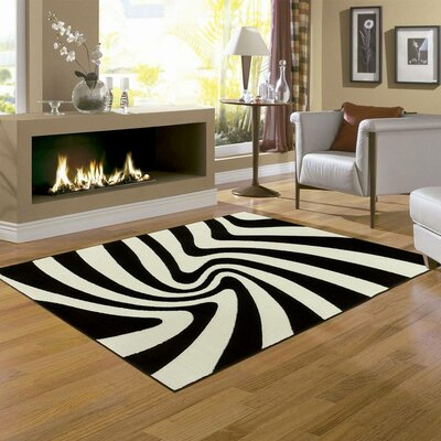 Zebra Area Rug Rug Size: Rectangle 79 x 105