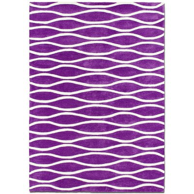 Handmade Purple Area Rug Rug Size: 7 x 102