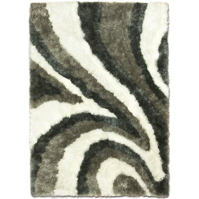 Hand-Tufted White/Gray Area Rug Rug Size: 411 x 611