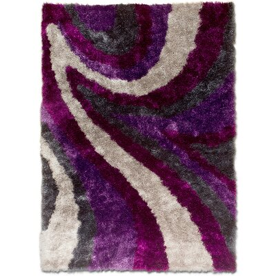 Hand-Tufted Purple Area Rug Rug Size: 711 x 105