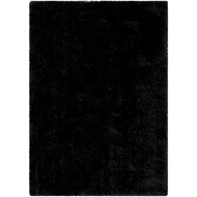 Black Area Rug Rug Size: Rectangle 411 x 7
