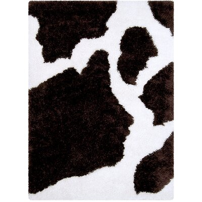 Brown/White Area Rug Rug Size: Rectangle 38 x 51