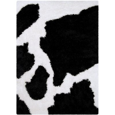 Black/White Area Rug Rug Size: 38 x 51