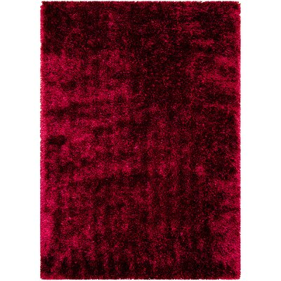 Burgundy Area Rug Rug Size: Rectangle 38 x 51