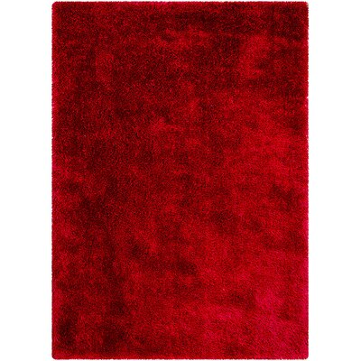 Red Area Rug Rug Size: Rectangle 38 x 51
