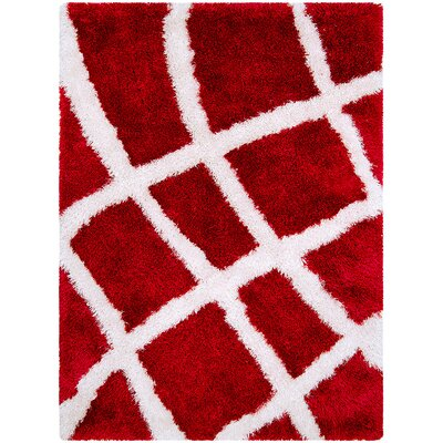 Red Area Rug Rug Size: 77 x 104