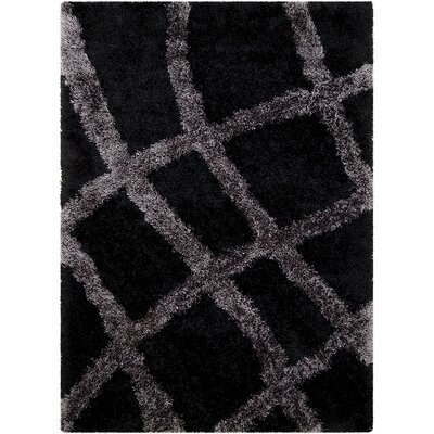 Black Area Rug Rug Size: Rectangle 77 x 104