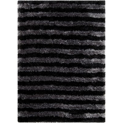 Black Area Rug Rug Size: Rectangle 4'11