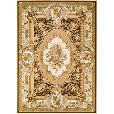 Handmade Brown Area Rug Rug Size: 67 x 93