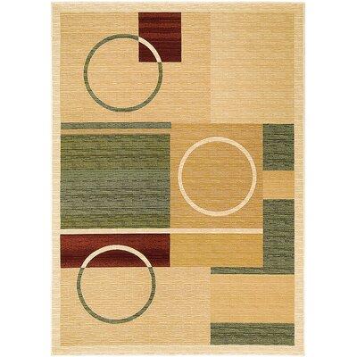 Handmade Beige Area Rug Rug Size: 710 x 108