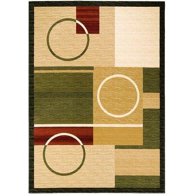 Handmade Beige/Green Area Rug Rug Size: 710 x 108