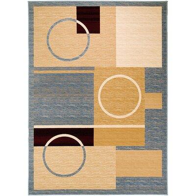 Handmade Beige/Blue Area Rug Rug Size: 710 x 108
