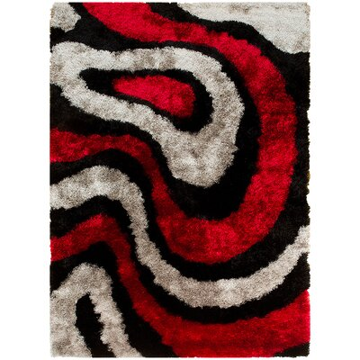 Hand-Tufted Red Area Rug Rug Size: 411 x 611