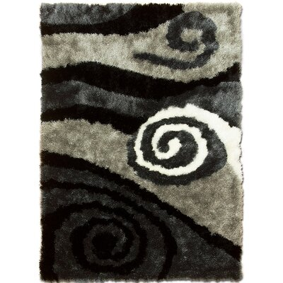 Hand-Tufted Black Area Rug Rug Size: 7'11
