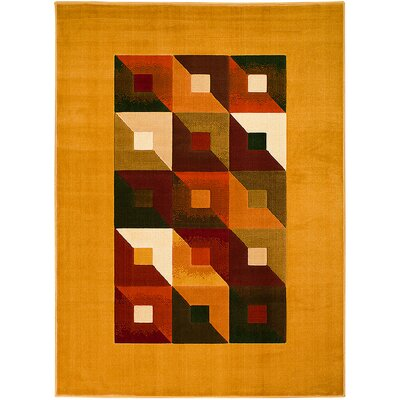 Orange Area Rug Rug Size: 710 x 102