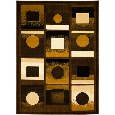 Brown/Black Area Rug Rug Size: 710 x 102