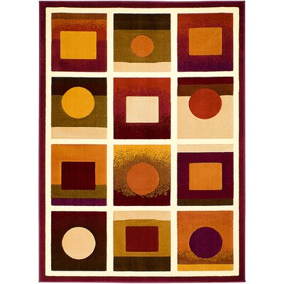 Brown/Black Area Rug Rug Size: 52 x 72