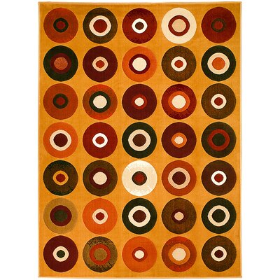 Orange Area Rug Rug Size: 39 x 51