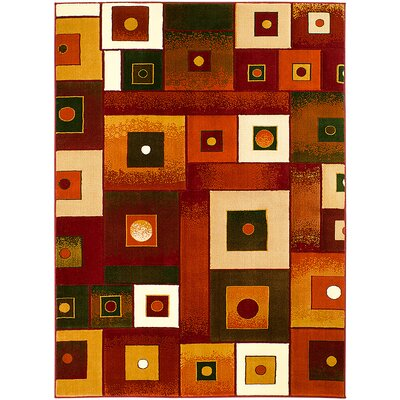 Red Area Rug Rug Size: 710 x 102