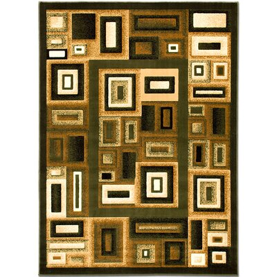Green Area Rug Rug Size: 710 x 102