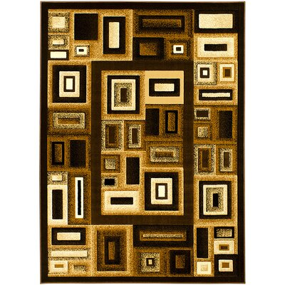 Brown Area Rug Rug Size: 39 x 51