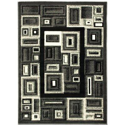 Gray Area Rug Rug Size: 52 x 72