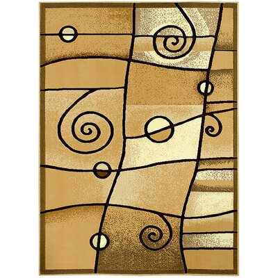 Brown Area Rug Rug Size: 710 x 102