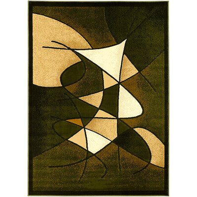 Green Area Rug Rug Size: 52 x 72