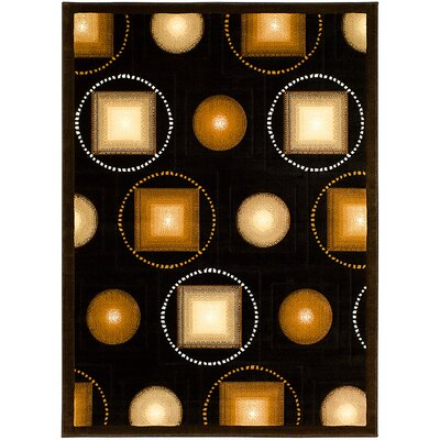 Black/Brown Area Rug Rug Size: 710 x 102