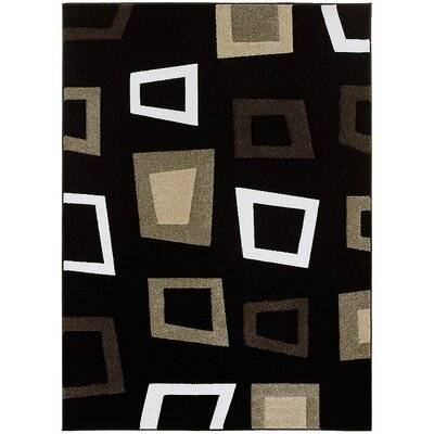Black Area Rug Rug Size: Rectangle 39 x 51