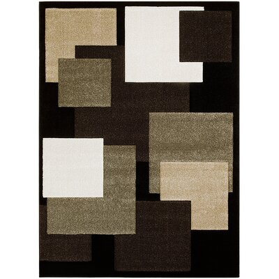 Black Area Rug Rug Size: Rectangle 52 x 72