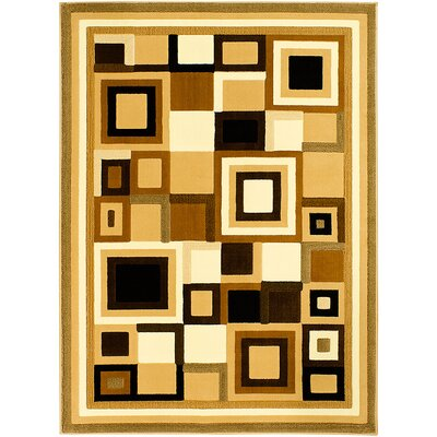 Black/Brown Area Rug Rug Size: Rectangle 710 x 102
