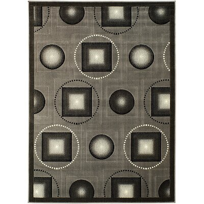 Gray Area Rug Rug Size: 710 x 102