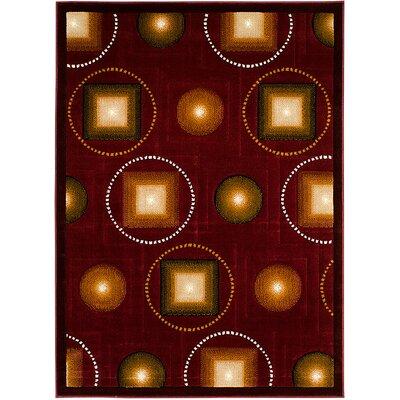Burgundy Area Rug Rug Size: 710 x 102