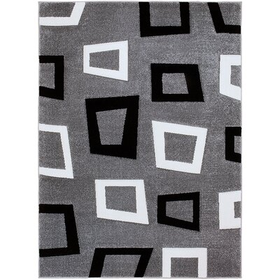 Gray Area Rug Rug Size: Rectangle 79 x 105