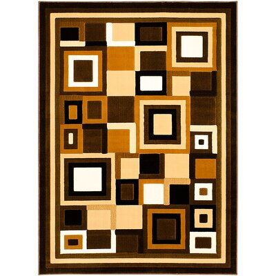 Chocolate Area Rug Rug Size: 52 x 72