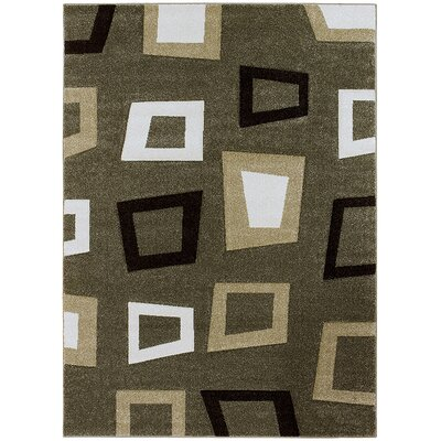 Green Area Rug Rug Size: Rectangle 52 x 72