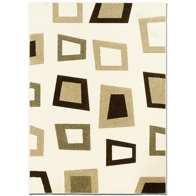 Ivory Area Rug Rug Size: Rectangle 79 x 105