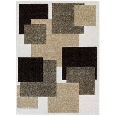 Ivory Area Rug Rug Size: 79 x 105
