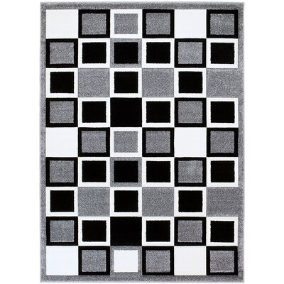 Gray Area Rug Rug Size: Rectangle 52 x 72