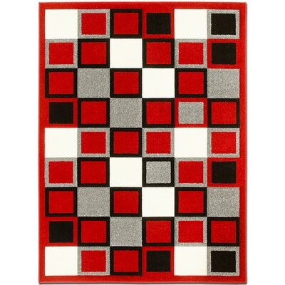 Red Area Rug Rug Size: 3'9
