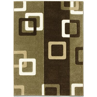 Green/Brown Area Rug Rug Size: Rectangle 52 x 72