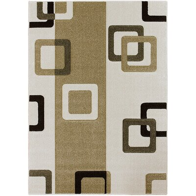 Ivory Area Rug Rug Size: Rectangle 52 x 72