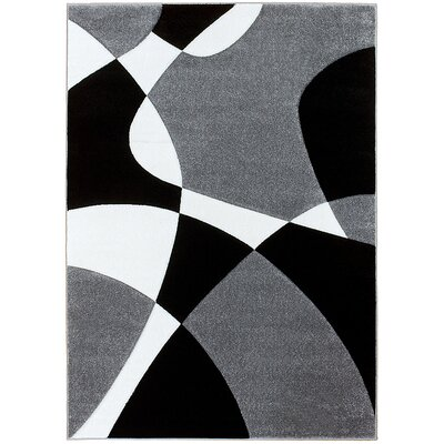 Gray Area Rug Rug Size: Rectangle 39 x 51