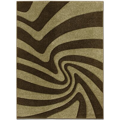 Brown/Gray Area Rug Rug Size: Rectangle 52 x 72