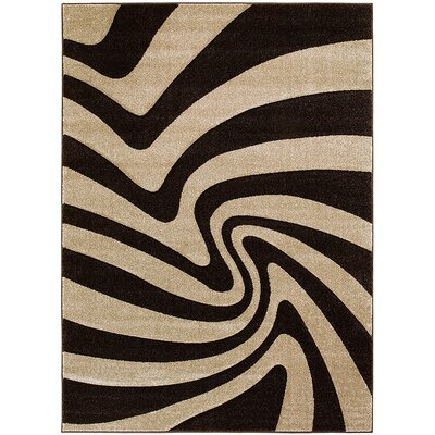 Chocolate Area Rug Rug Size: 3'9